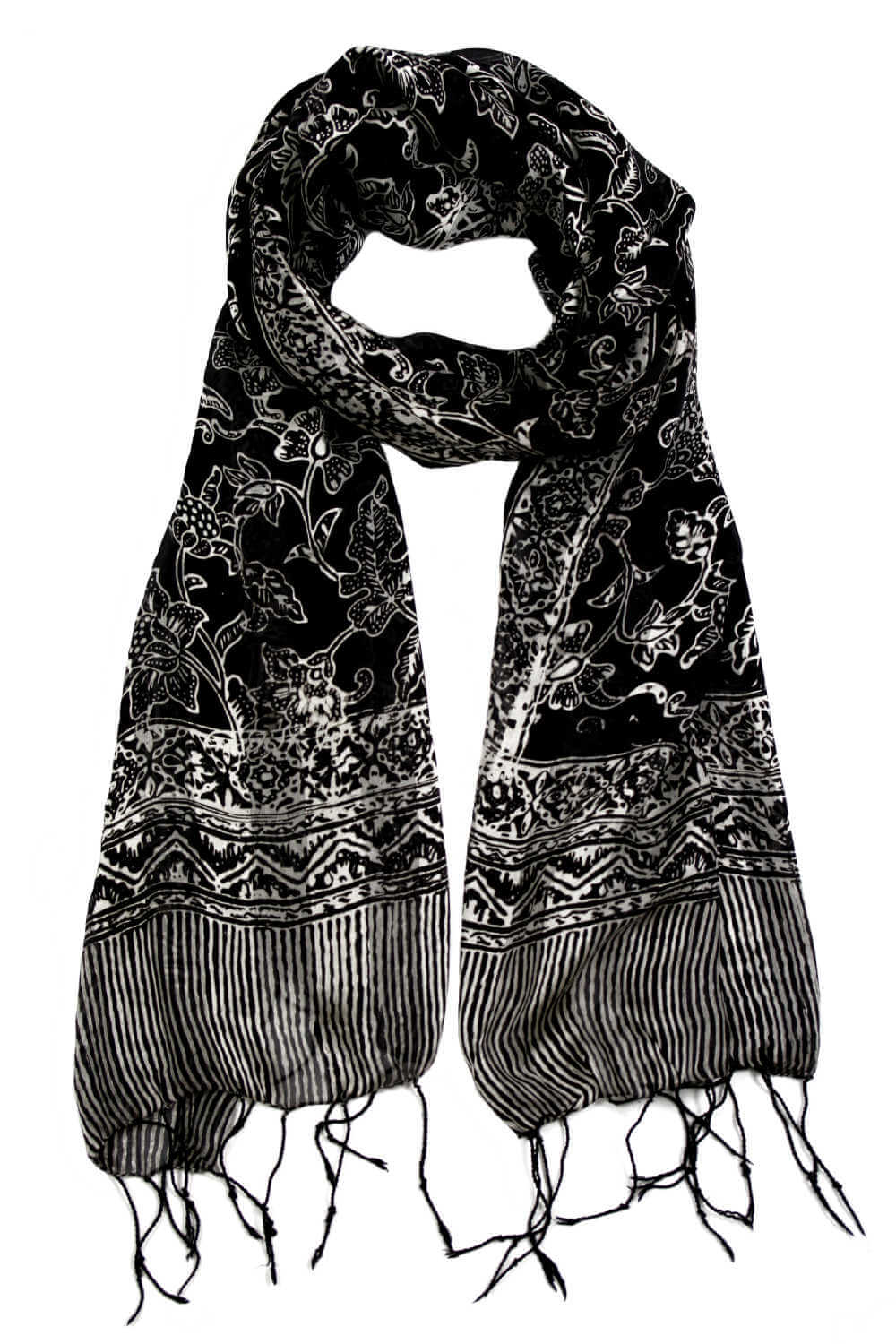 silk-scarf-black-white-floral-design