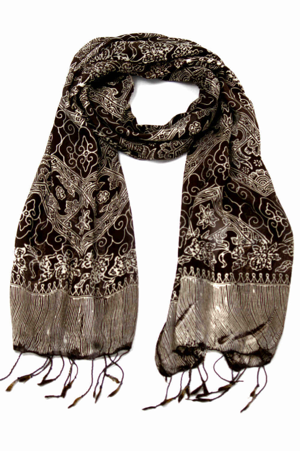 silk-scarf-floral-design-chocolate-brown