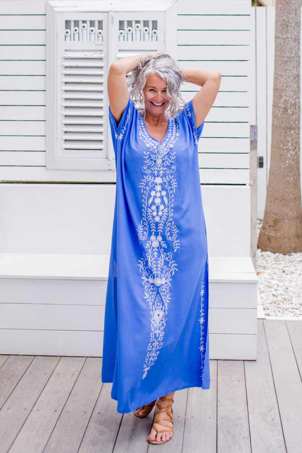 long-summer-dress-blue-white-embroidery