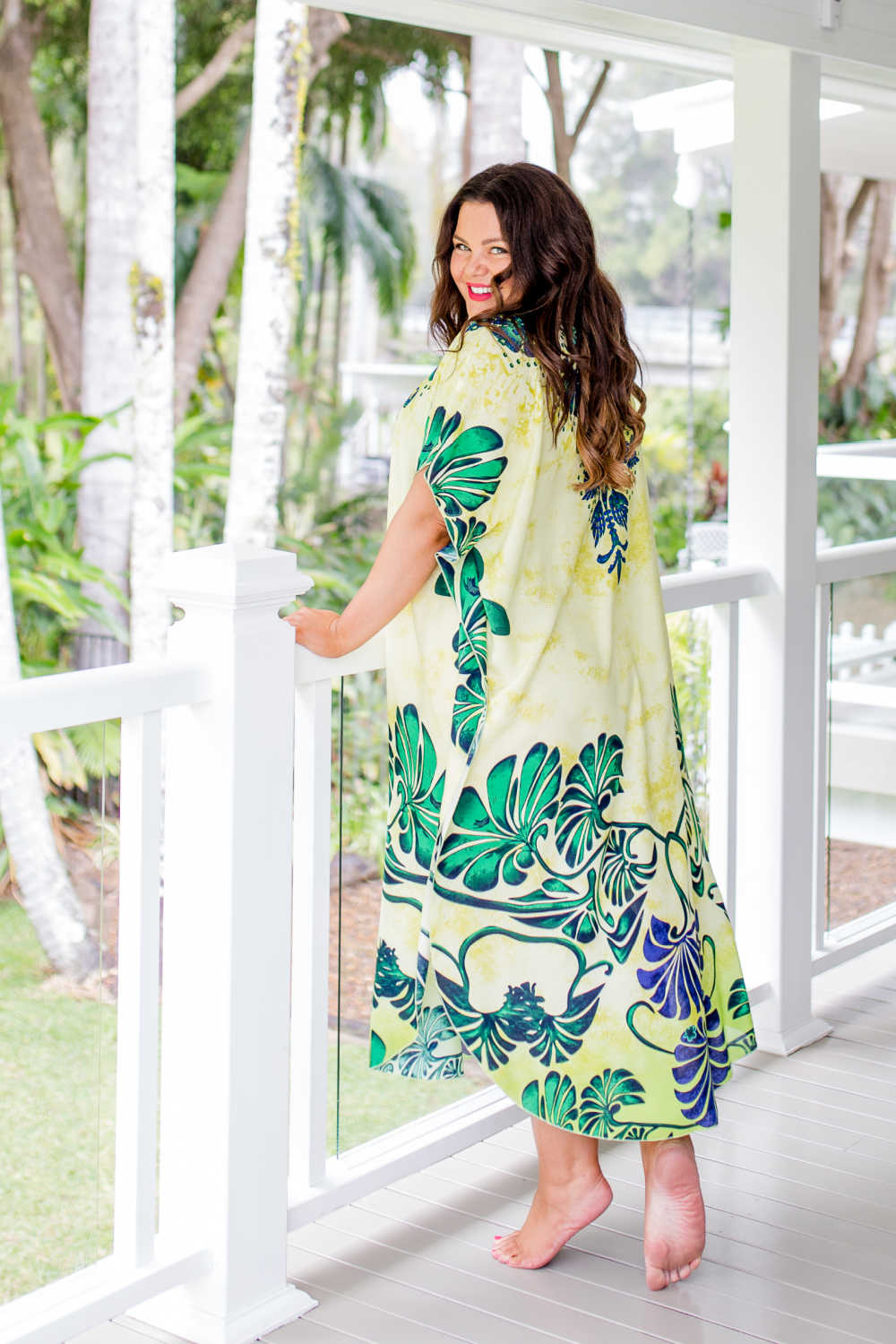 long-summer-kaftan-green-palm-leaf-design
