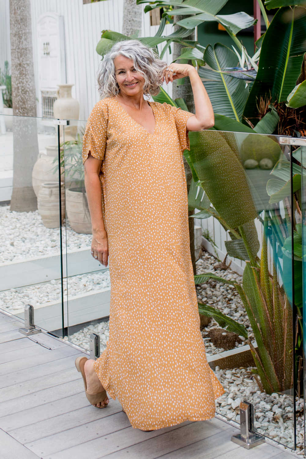 maxi-summer-dress-caramel-white-polka-dot