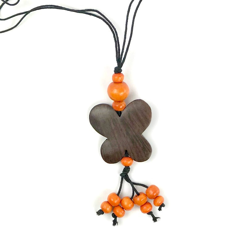 butterfly-pendant-necklace-orange-tassel-beads