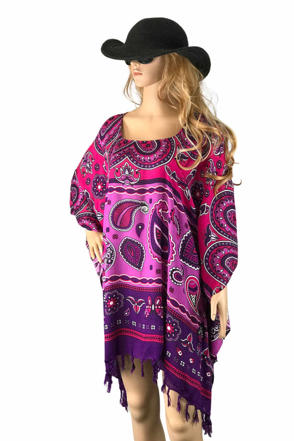 plus-size-kaftan-top-mandala-orange-red-yellow-paisley
