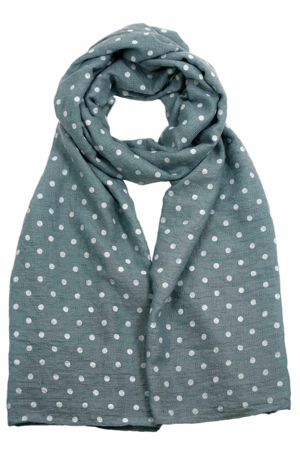 polka-dot-scarf-wrap-muted-blue-white