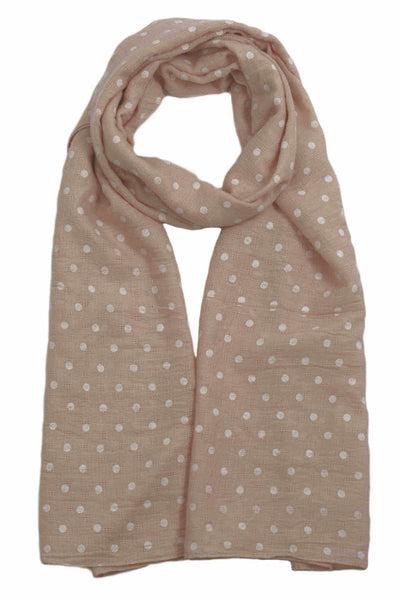 polka-dot-scarf-wrap-peach-white