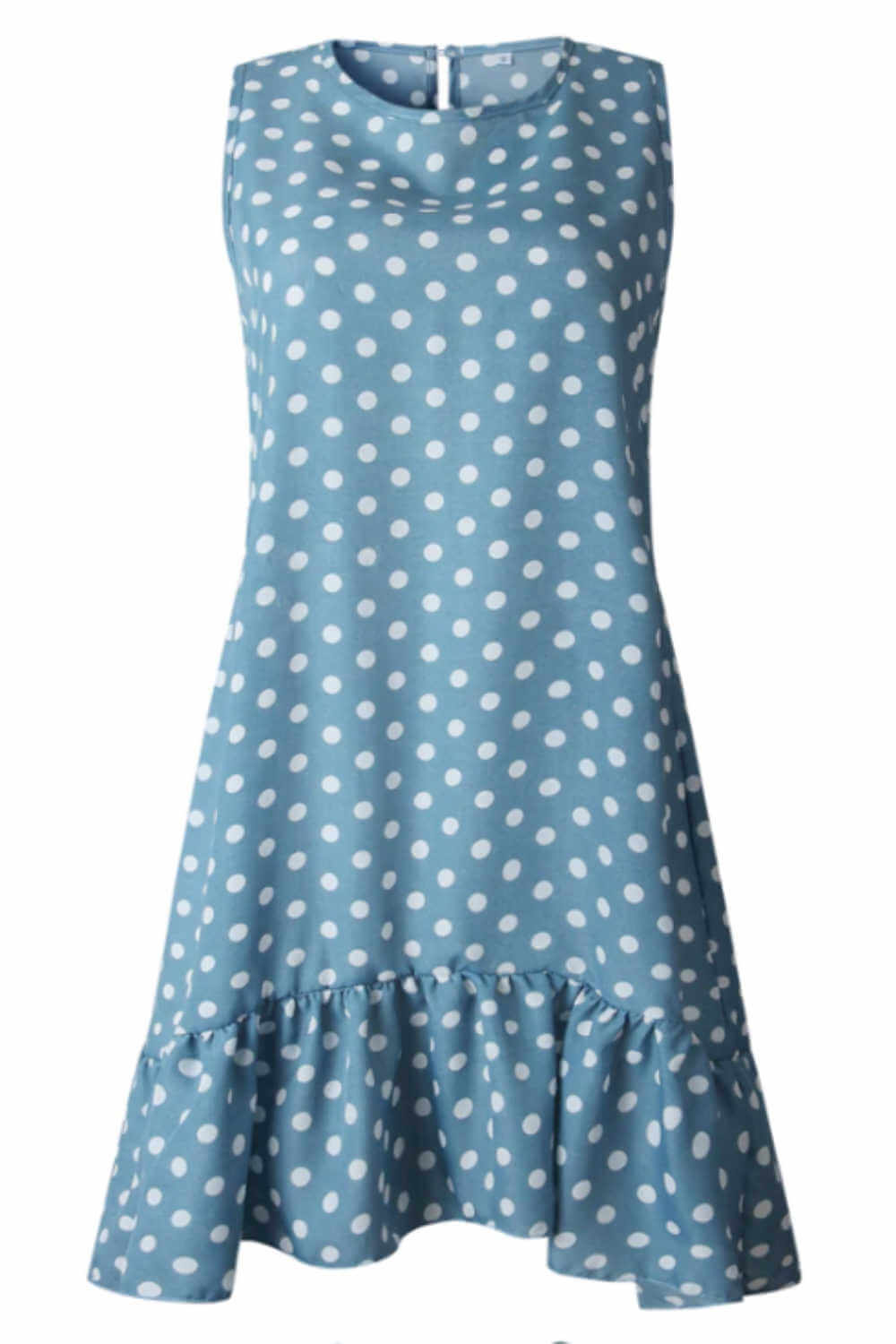 polka-dot-summer-dress-blue-white-ruffle-layers