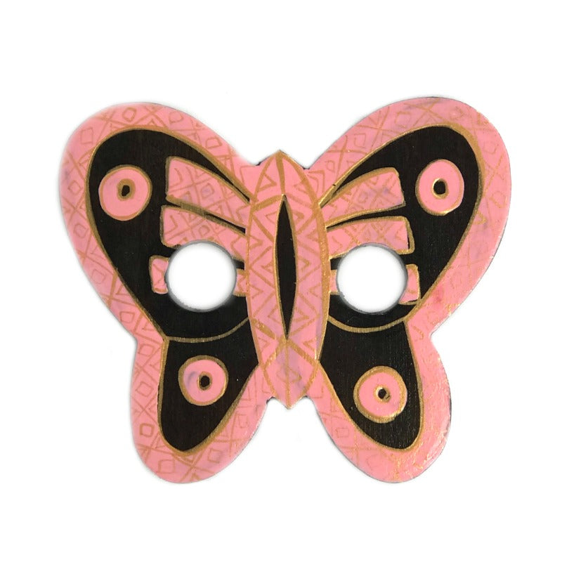 sarong-buckle-butterfly-gold-pink-hand-painted-wood