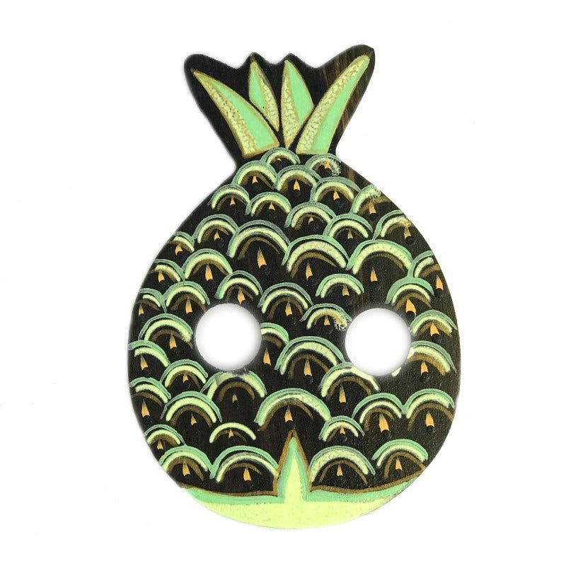 Sarong-buckle-pineapple-green-lime-hand-painted