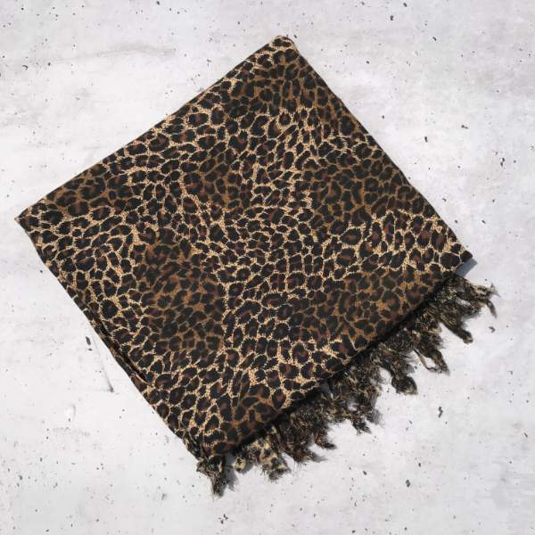 Leopard print sarongs - black brown cream - Holley Day