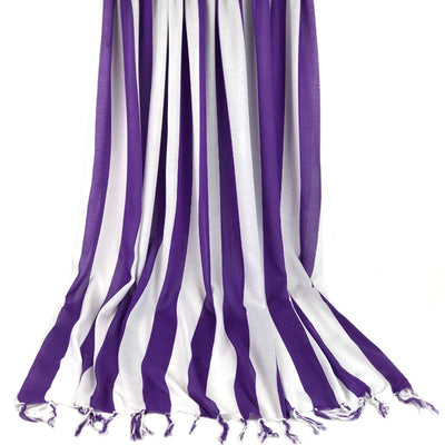Large sarong - purple and white stripe design