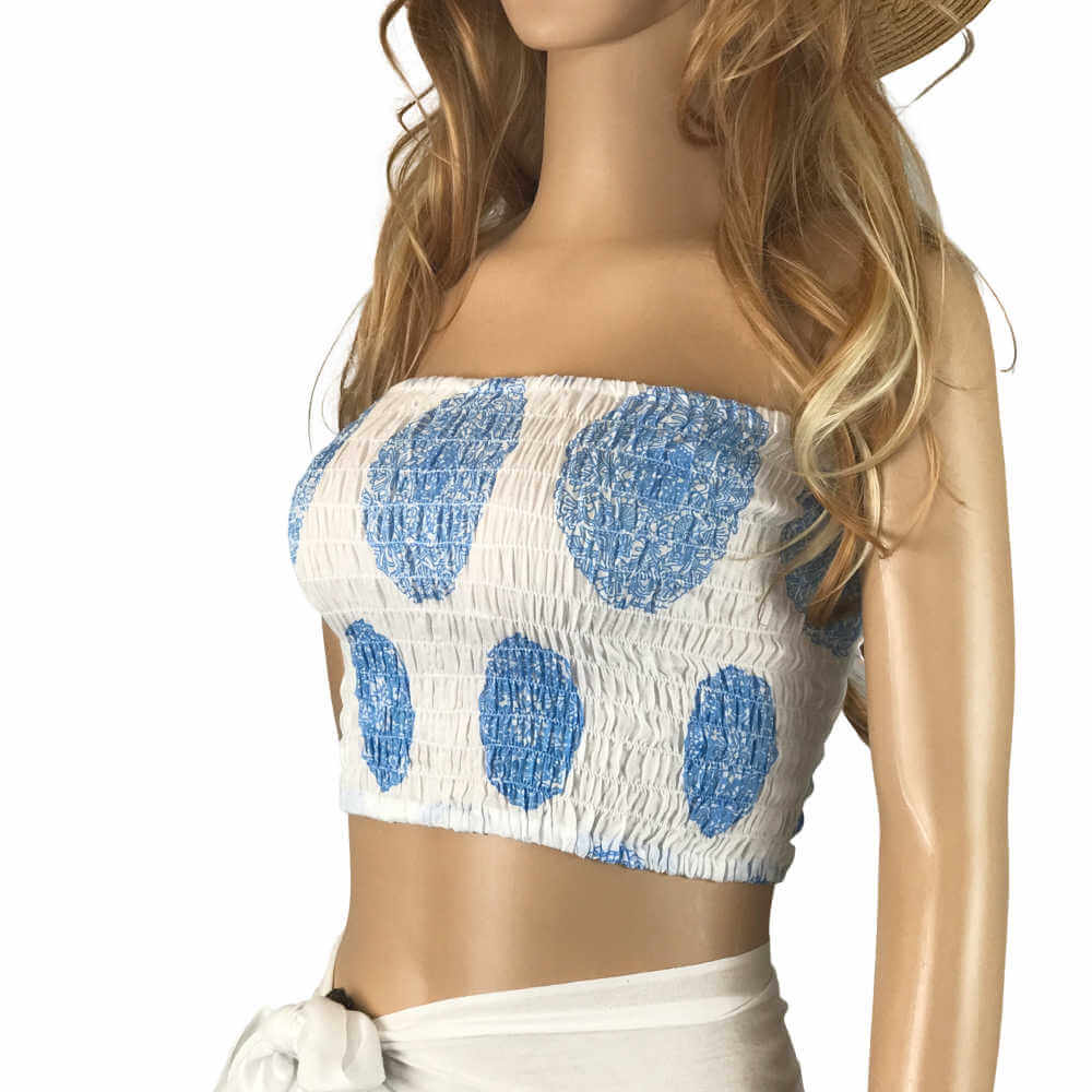 shirred-boob-tube-crop-top-white-blue-mandala