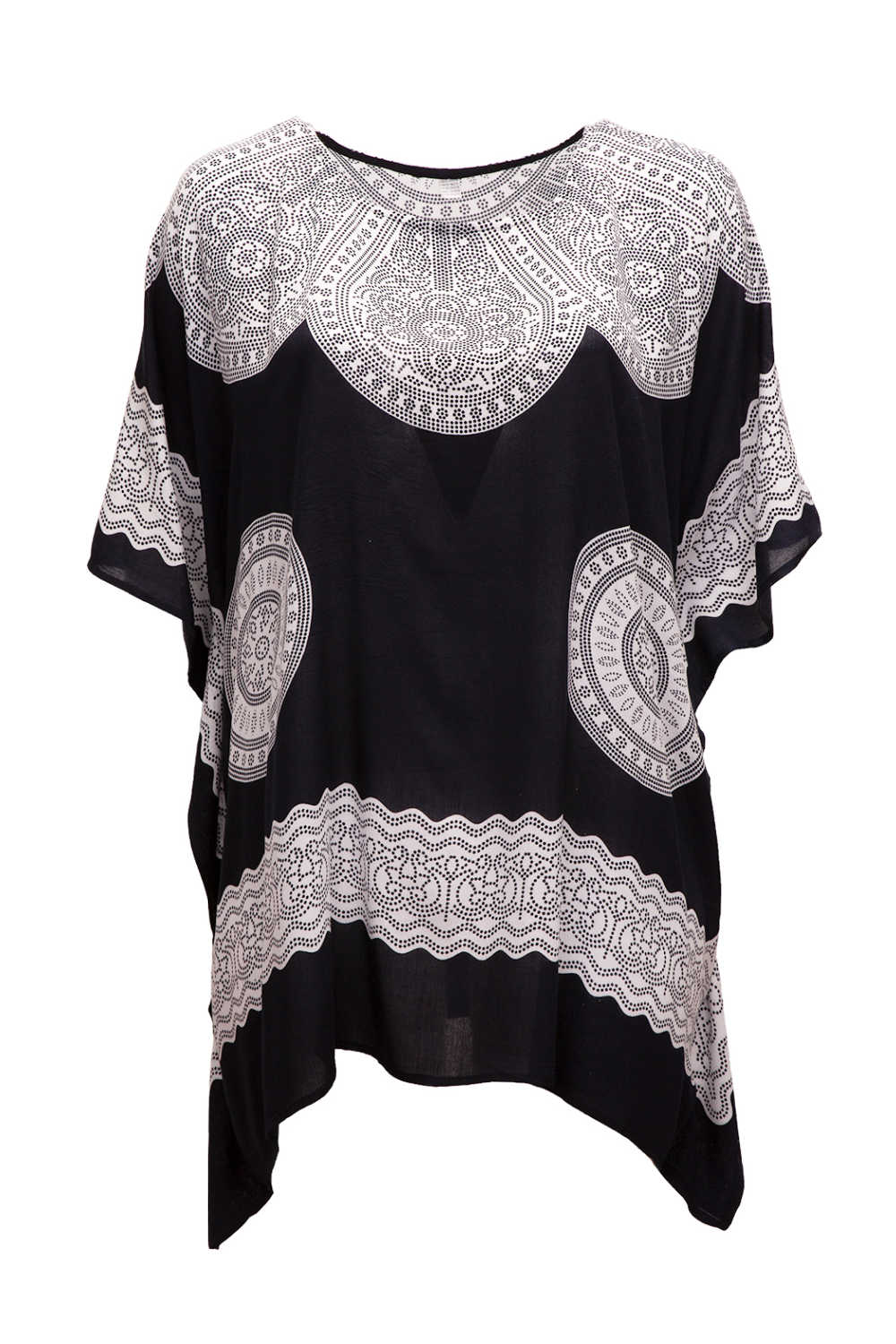short-kaftan-dress-long-tunic-black-white-mandala