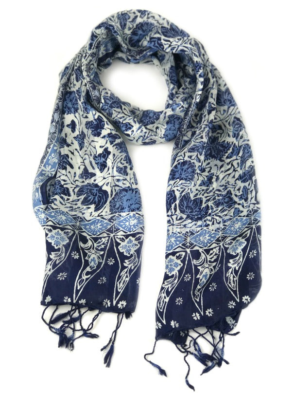 ladies-silk-scarf-floral-design-blue-white