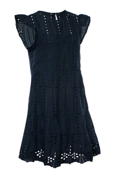summer-dress-casual-dark-blue-embroidery-embellishment