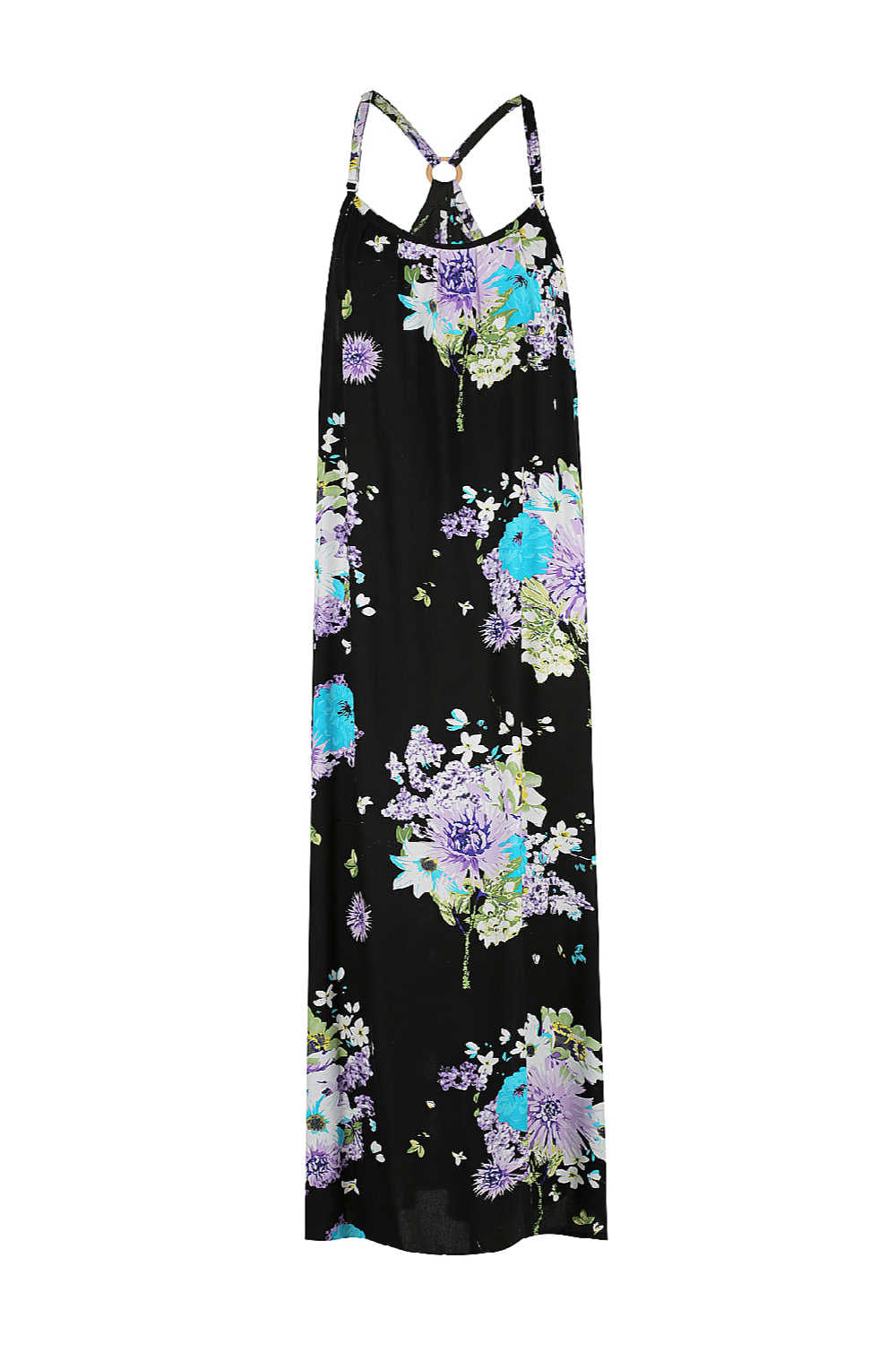 summer-maxi-dress-floral-design-black-turquoise-lilac