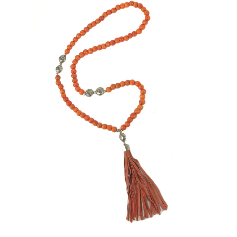 tassel-pendant-necklace-red-beads-leather-tassel