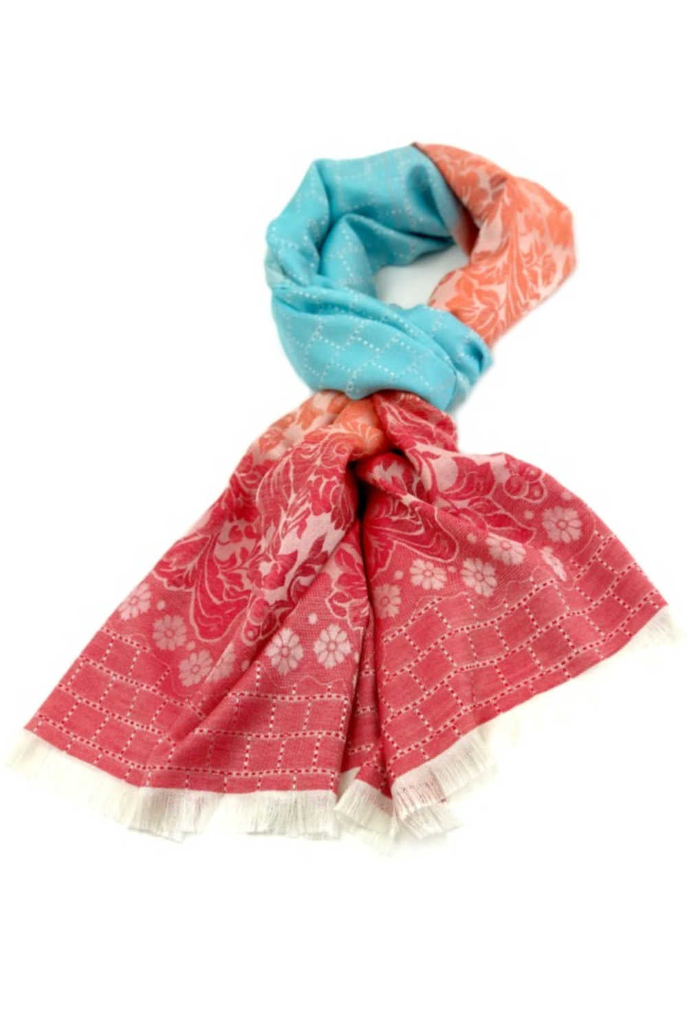 thai-silk-shawl-wrap-floral-sky-blue-peach-red
