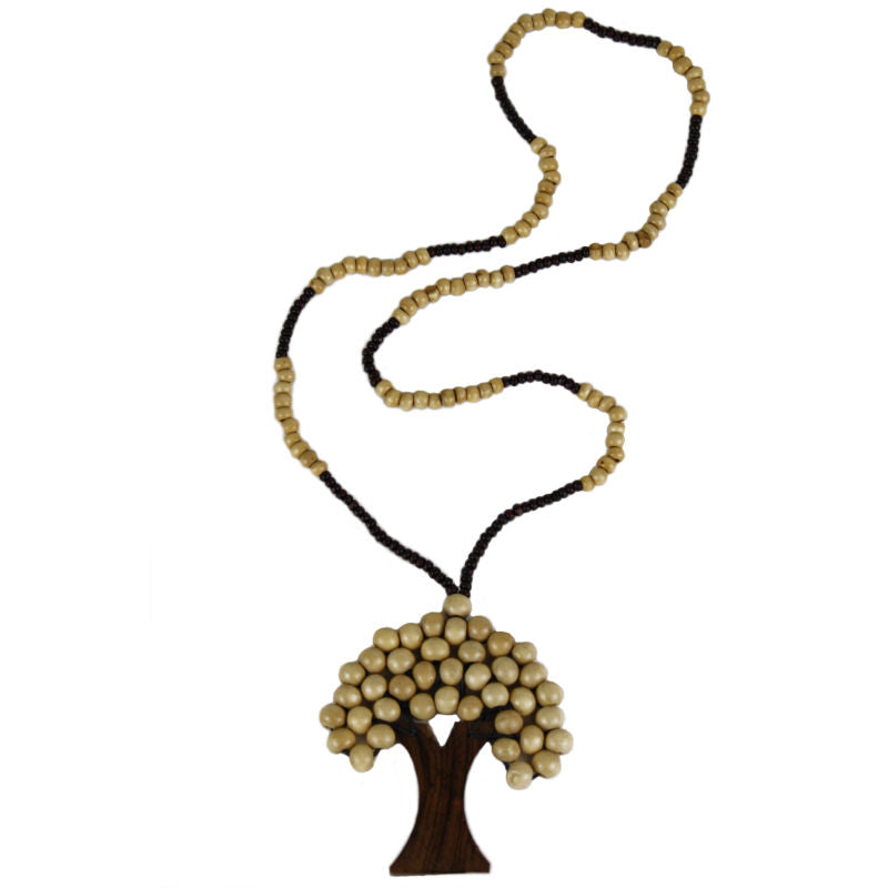 Tree-of-life-pendant-necklace-cream-wood-beads