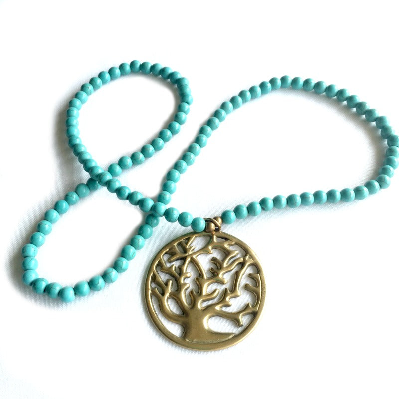 tree-of-life-pendant-necklace-turquoise-beads-gold-pendant