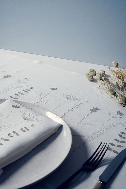 Limited Edition 'Irish Wildflower' Irish Linen napkins x12 Metallic