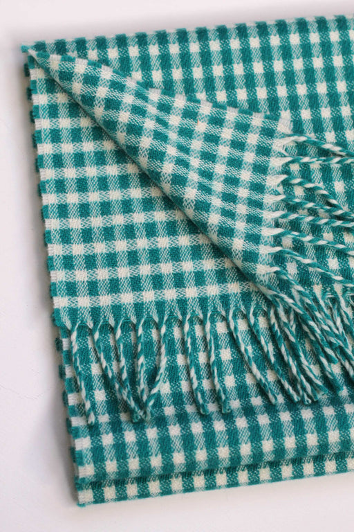 Unisex Mini-Check Scarf, Tropical Green