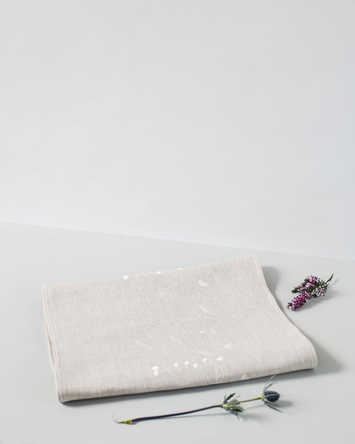 Personalised 'Irish Wildflower' Natural Irish Linen Table Runner