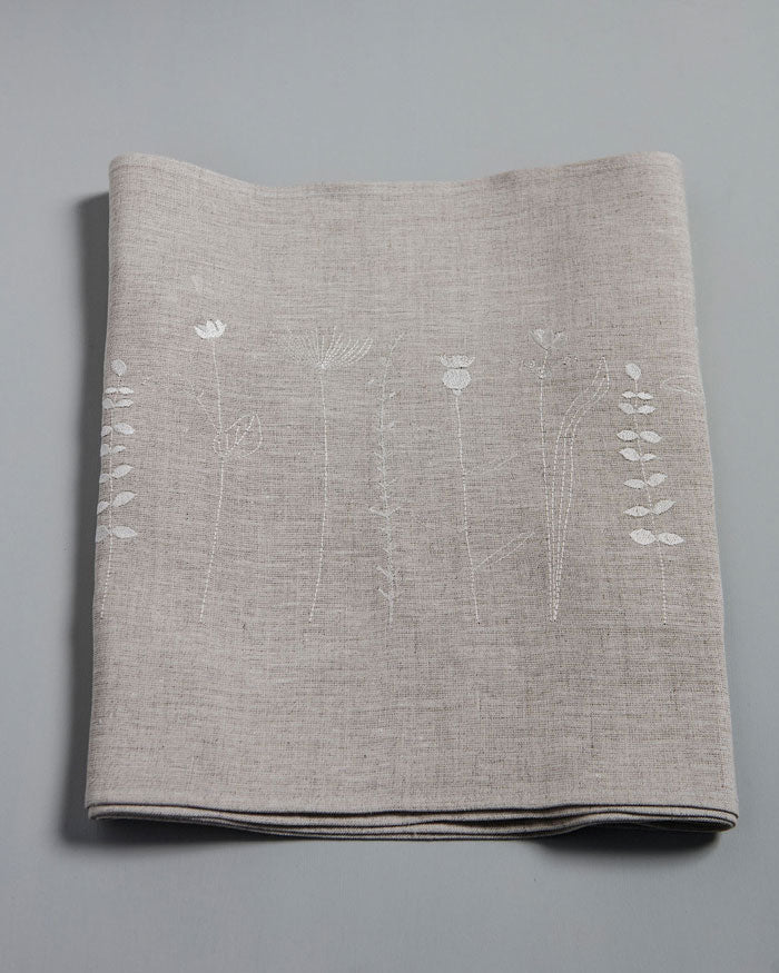 'Irish Wildflower' Natural Irish Linen Table Runner