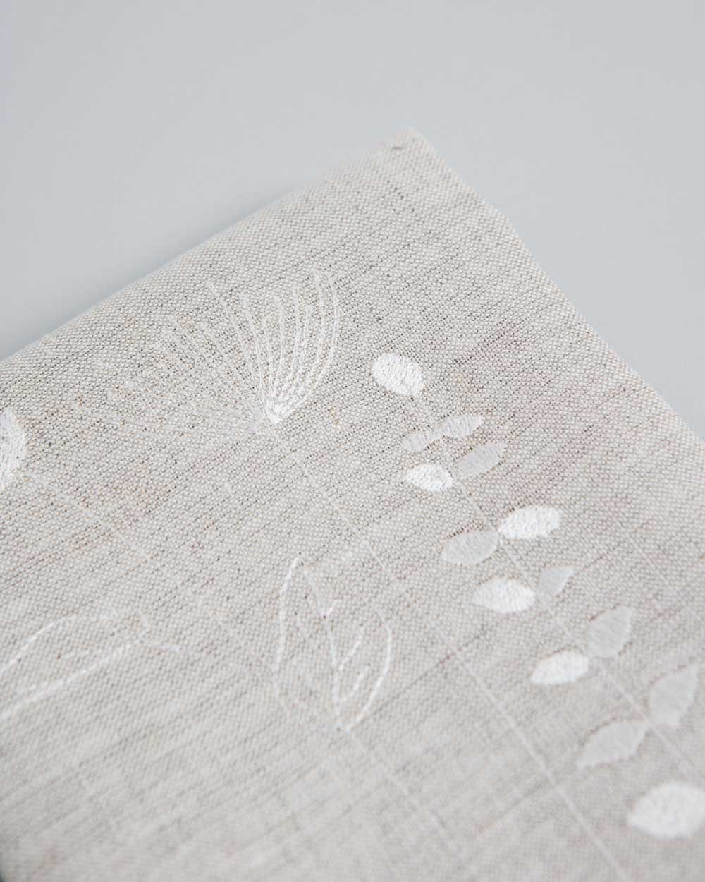 'Irish Wildflower' Natural Irish Linen napkins x4
