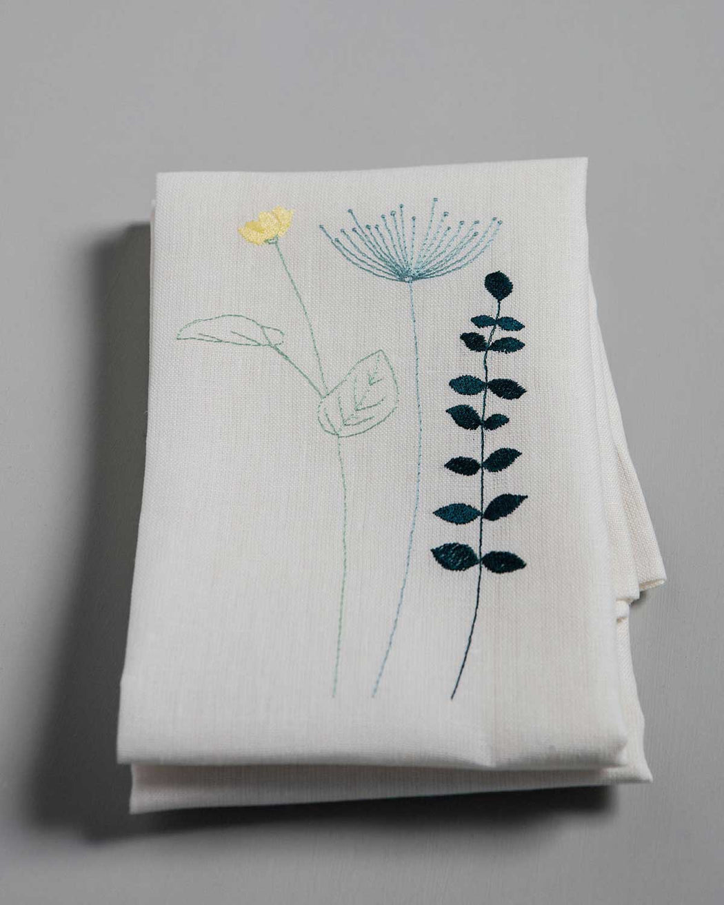 Mongrammed 'Irish Wildflower' Irish Linen napkins x6