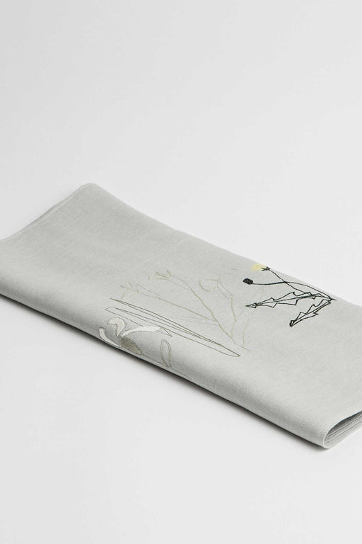 'Herbarium' Embroidered Irish Linen Table Runner - Limited Edition of 100 pieces