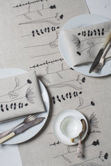 'Irish Wildflower' Irish Linen Table Runner & 6 x Napkin Gift Set