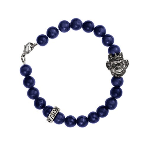King Monkey Bracelet - Blue Agate
