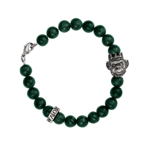 King Monkey Bracelet - Green Agate