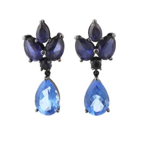 Grace Kelly Earrings - Blue