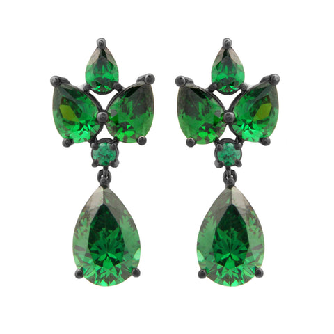 Grace Kelly Earrings - Emerald