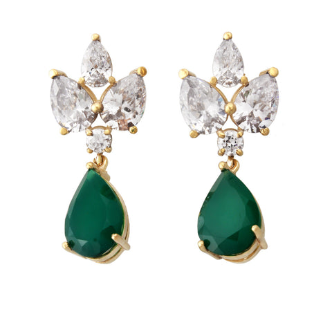 Grace Kelly Earrings - Green