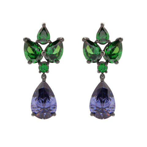 Grace Kelly Earrings - Purple