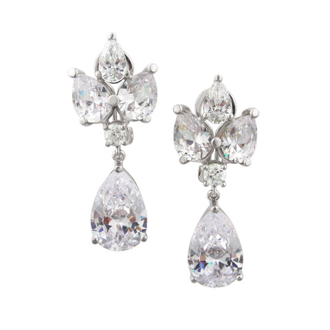 Grace Kelly Earrings - White