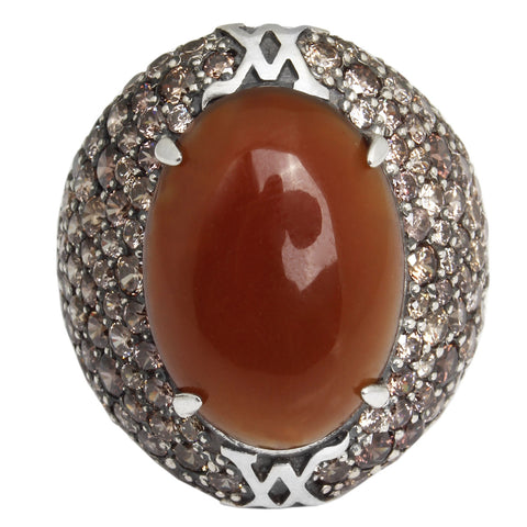 Forget Me Not Ring - Carnelian