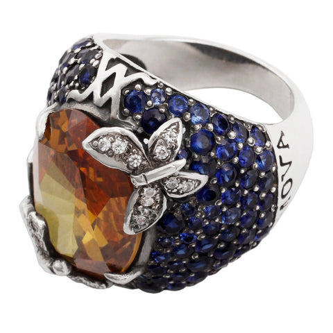 Forget Me Not Ring - Citrine