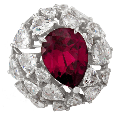 Forget Me Not Ring - Red Corundum