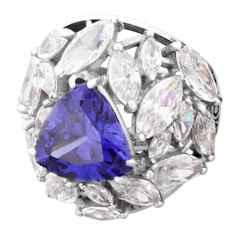 Forget Me Not Ring - Tanzanite Marquesa Cut