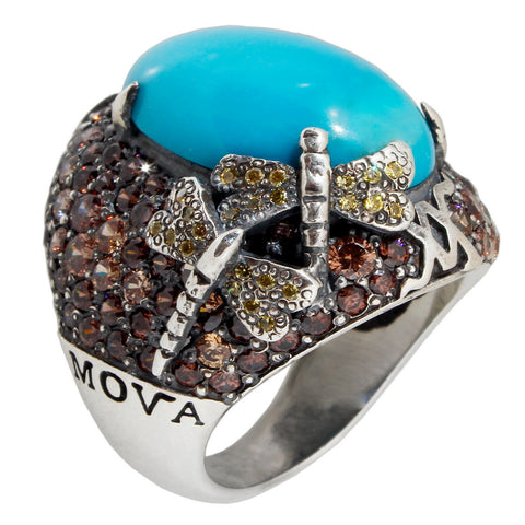 Forget Me Not Ring - Turquoise