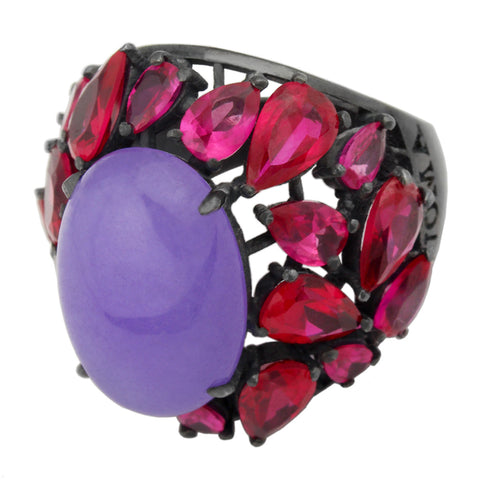 Forget Me Not Ring - Violet Corundum