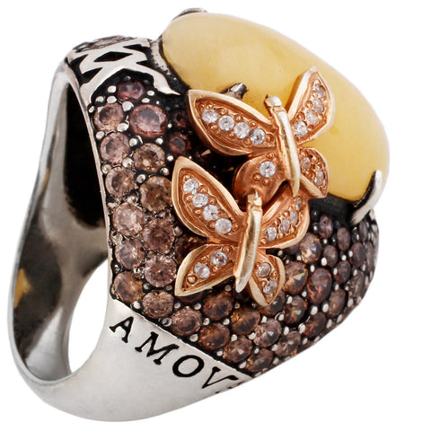 Forget Me Not Ring - Yellow Papillon