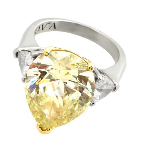 Fancy Yellow Ring - Pear Cut