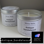 Antique Sandalwood Scented Candle Tin - 175g or 75g