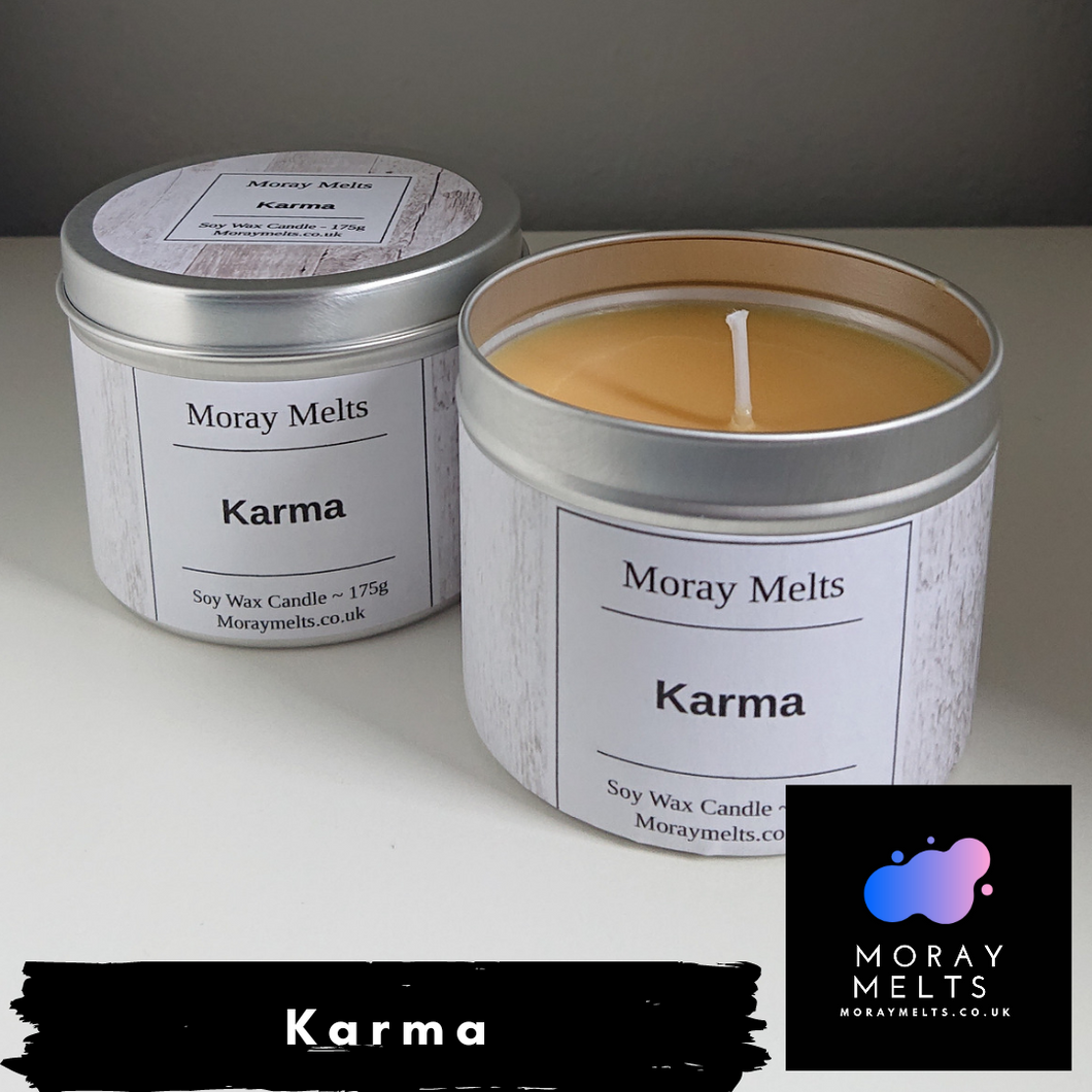 It's Karma Scented Candle Tin - 175g or 75g - Moray Melts