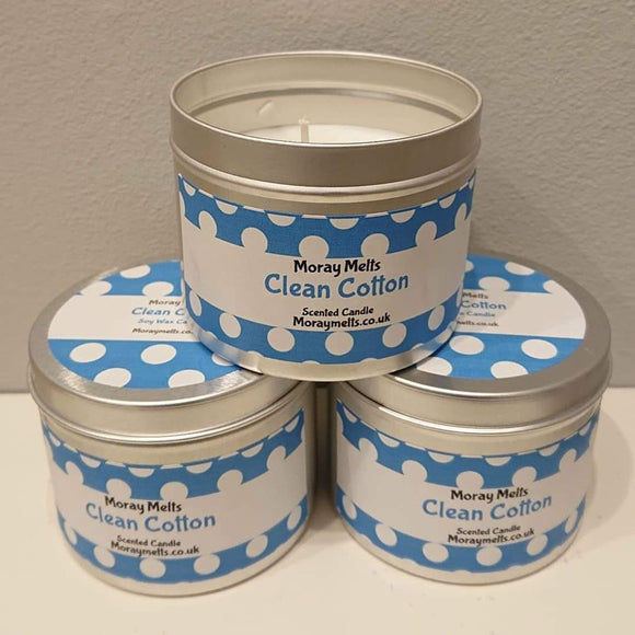 Clean Cotton Scented Candle Tin - 175g
