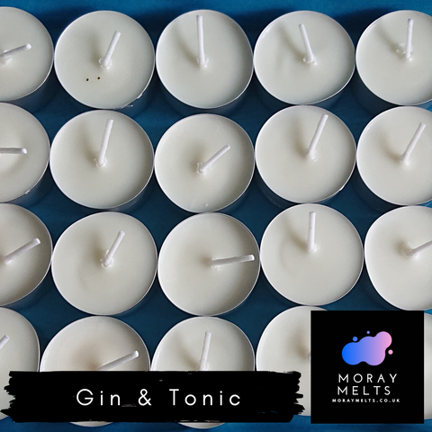Gin & Tonic Tealight Candle Box - Qty 9 OR 20